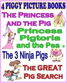 4 FUNNY PIGGY PICTURE BOOKS including Princess Pigtoria and the Pea!