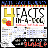 4 Facts In-a-Row Math Facts Game BUNDLE {ADDITION & SUBTRACTION WITHIN 20}