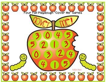 4  Fall Playdough  Math Cover Me Games