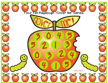 4  Fall Playdough  Math Cover Me Games