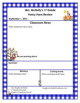 4 Farm Themed Newsletter Templates