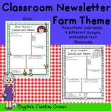 Farm Theme Newsletter Templates