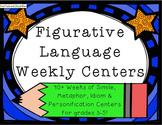 4 Figurative Language Centers - Grades 3-5 - Year Round Centers!