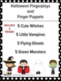 Halloween Fingerplays with Finger Puppets, Music and Movement Activities