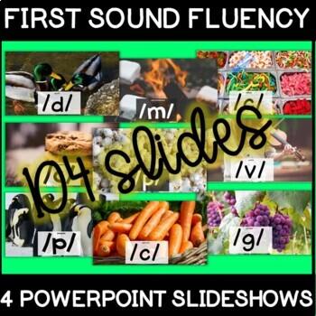4 First Sound Fluency PowerPoints
