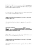 4 Focus Questions for the Film The Great Debaters 2 Per Page Worksheet