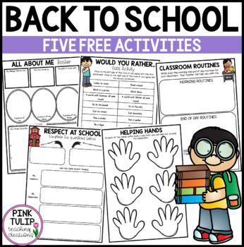 4 Free Back to School Printable Activities