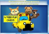 Classroom Energizers and Activity Breaks - 4 Free Flip Cards