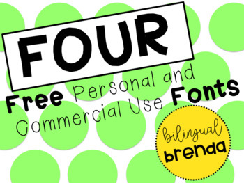 4 Free Personal and Commercial Use Fonts