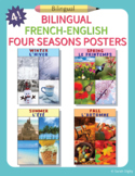 4 French-English Bilingual Four Seasons Posters