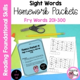 4 Fry High Frequency Words Fluency Packets (Fry Words 201-300)