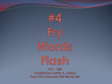 #4 Fry Words Flash 151 - 200 PowerPoint Slideshow SMARTBoard
