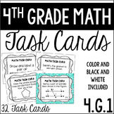 4.G.1 4th Grade Math Task Cards (Geometric Elements: Lines, Rays, Angles)