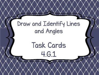 4.G.1 Draw and Identify Lines and Angles Task Cards