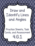 4.G.1 Draw and Identify Lines and Angles Worksheets, Task