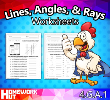 4.G.1 - Lines and Angles Worksheets