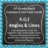 4.G.1 Task Cards ⭐ Lines and Angles Centers