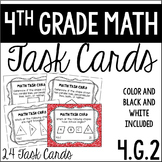 4.G.2 4th Grade Math Task Cards (Classifying 2-D Shapes Ba