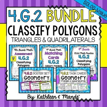 4.G.2 BUNDLE: Classify Polygons {Triangles & Quadrilaterals}