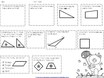 Classify Triangles and Quadrilaterals Task Cards & More!
