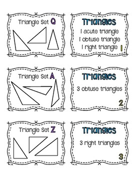 4.G.2 Matching Cards: Classifying Polygons {Triangles & Quadrilaterals}