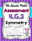 4.G.3 Assessment: Lines of Symmetry
