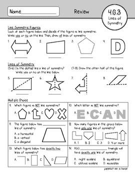 4.G.3 Assessment: Lines of Symmetry