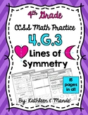4.G.3 Practice Sheets: Lines of Symmetry