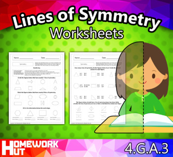 4.G.3 - Symmetry and Lines of Symmetry Worksheets
