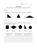 4.G.A.2&3 Geometry: Lines, Angles, Symmetry