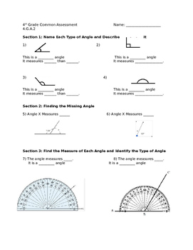 4.G.A.2 Assessment