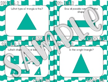 4.G.A.2 Classifying 2D Shapes Task Cards