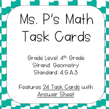 4.G.A.3 Symmetry Task Cards