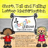 4 Google Games - Short, Tall and Falling Letter Indentific