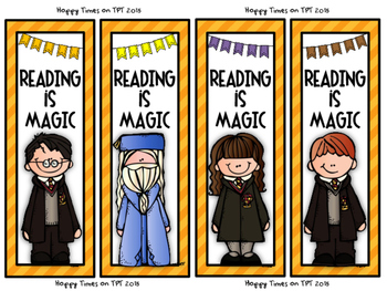 8 HARRY POTTER Melonheadz theme BOOKMARKS reading