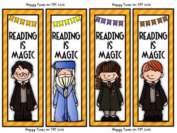 8 HARRY POTTER Melonheadz theme BOOKMARKS reading