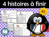 4 HISTOIRES courtes et simples à finir avec questions de c