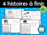 4 HISTOIRES courtes et simples à finir avec questions de compréhension