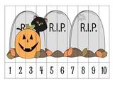 4 Halloween Number Order Puzzles {FREEBIE}