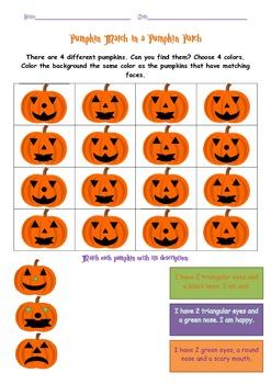 4 Halloween Worksheets