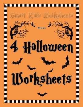 4 Halloween Worksheets