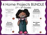 4 Home Projects BUNDLE (Ancestor, Hero, Dinosaur, and Simple Machine)