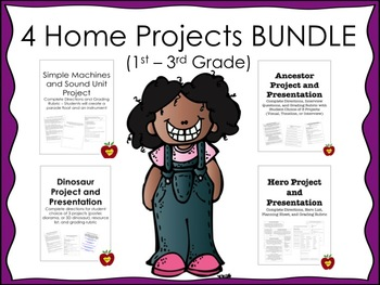 4 Home Projects BUNDLE (Ancestor, Hero, Dinosaur, and Simple Machine)