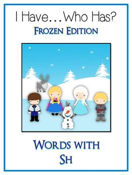 4 I Have Who Has FROZEN Princess Folder Games - DIGRAPHS - CH SH TH WH