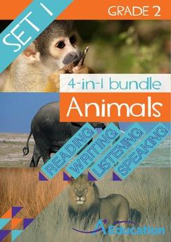 4-IN-1 BUNDLE- Animals (Set 1) – Grade 2