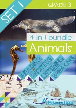 4-IN-1 BUNDLE- Animals (Set 1) – Grade 3