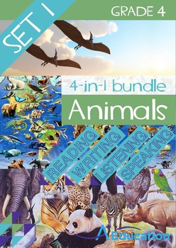 4-IN-1 BUNDLE- Animals (Set 1) – Grade 4