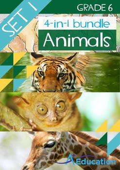 4-IN-1 BUNDLE- Animals (Set 1) – Grade 6