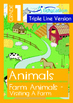 4-IN-1 BUNDLE - Animals (Set 2) Grade 1 (with 'Triple-Track Writing Lines')