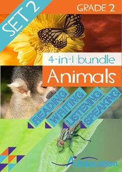 4-IN-1 BUNDLE- Animals (Set 2) – Grade 2
